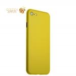 Супертонкий пластиковый чехол-накладка для iPhone 8 ICSES (0.3 мм), цвет желтый матовый