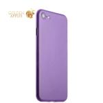 Супертонкий пластиковый чехол-накладка для iPhone 8 ICSES (0.3 мм), цвет сиреневый матовый