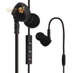 Вакуумные наушники вкладыши с микрофоном Hoco ES1 In-ear Sport Wireless Headset Bluetooth 4.1 Earphone Black, цвет черный