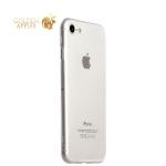 Супертонкий силиконовый чехол-накладка для iPhone 8 ICSES, цвет прозрачный
