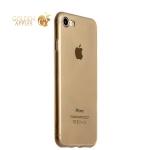 Супертонкий силиконовый чехол-накладка ICSES для iPhone 8, цвет прозрачной-черный