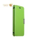 Кожаный чехол-книжка для iPhone 8 Plus iCarer Luxury Series Side-open, цвет зеленый