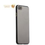 Силиконовый чехол-накладка для iPhone 7 COTEetCI Utra-thin (0.6 мм) (CS7006-CE), цвет прозрачная (золотистые кнопки)