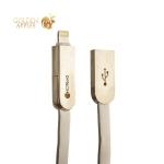 Lightning & microUSB кабель COTEetCI M13 FLAT series (2в1) CS2120-WH (1.0 м), цвет белый