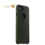 Силиконовый чехол-накладка для iPhone 7 COTEetCI Vogue Silicone Case (CS7023-BK-GR), цвет черный / зеленый