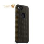 Силиконовый чехол-накладка для iPhone 7 COTEetCI Vogue Silicone Case (CS7023-BK-OR), цвет черный / оранжевый
