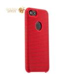 Силиконовый чехол-накладка для iPhone 7 COTEetCI Vogue Silicone Case (CS7023-RD-BK), цвет красный / черный