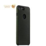 Силиконовый чехол-накладка для iPhone 7 Plus COTEetCI Vogue Silicone Case (CS7025-BK-GR), цвет черный / зеленый