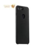 Силиконовый чехол-накладка для iPhone 8 Plus COTEetCI Vogue Silicone Case (CS7025-BK-GY), цвет черный / графит