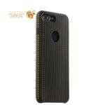 Силиконовый чехол-накладка для iPhone 8 Plus COTEetCI Vogue Silicone Case (CS7025-BK-OR), цвет черный / оранжевый