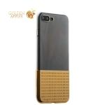 Силиконовый чехол-накладка для iPhone 8 Plus COTEetCI Gorgeous Silicone (CS7029-GD), цвет прозрачный / золотистый