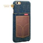 Накладка пластиковая Umku Jeans для iPhone 6S / 6 (4.7) Soft-touch вид 7