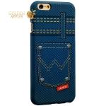 Накладка пластиковая Umku Jeans для iPhone 6S / 6 (4.7) Soft-touch вид 5