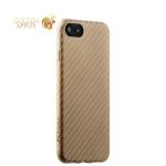 Пластиковая ультра-тонкая накладка для iPhone 8 Phantom series (HYOIP7-GLD), цвет золотистый карбон