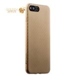 Пластиковый ультра-тонкий чехол накладка для iPhone 8 Plus Peacocktion Phantom series (HYIIP7-GLD), цвет золотистый