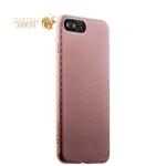 Пластиковый ультра-тонкий чехол накладка для iPhone 8 Plus Peacocktion Phantom series (HYIIP7-LPK), цвет розовое золото