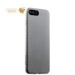 Пластиковый ультра-тонкий чехол накладка для iPhone 7 Plus Peacocktion Phantom series (HYIIP7-SIL), цвет серебристый