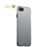 Пластиковый чехол-накладка для iPhone 8 Deppa Air Case (D-83268) Soft touch (1.0 мм), цвет серебристый