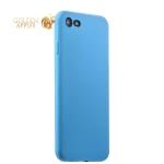 Силиконовый чехол-накладка для iPhone 7 Deppa Gel Air Case (D-85266) Soft touch (0.7 мм), цвет голубой