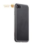Силиконовый чехол-накладка для iPhone 7-Deppa Gel Plus Case (D-85254) (0.9 мм), цвет прозрачный (серебристый глянцевый борт)