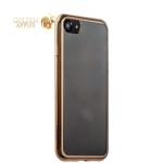 Силиконовый чехол-накладка для iPhone 7-Deppa Gel Plus Case (D-85255) (0.9 мм), цвет прозрачный (золотистый глянцевый борт)