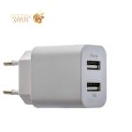 Сетевое зарядное устройство Deppa Ultra D-11306 (USB: 5V 1A & 5V 2.1A) + кабель Lightning (1.2 м), цвет белый