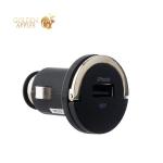 Автомобильное зарядное устройство Deppa Ultra MFI D-11251 (5V 1.2A) + витой Lightning кабель (1.5 м), цвет черный