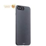 Пластиковый чехол-накладка для iPhone 7 Plus Deppa Air Case (D-83274) Soft touch (1.0 мм), цвет графитовый