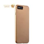 Пластиковый чехол-накладка для iPhone 7 Plus Deppa Air Case (D-83275) Soft touch (1.0 мм), цвет золотистый