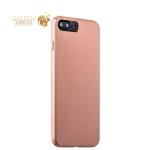Пластиковый чехол-накладка для iPhone 7 Plus Deppa Air Case (D-83276) Soft touch (1.0 мм), цвет розовое золото