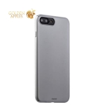Пластиковый чехол-накладка для iPhone 7 Plus Deppa Air Case (D-83273) Soft touch (1.0 мм), цвет серебристый