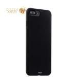 Пластиковый чехол-накладка для iPhone 7 Plus Deppa Air Case (D-83272) Soft touch (1.0 мм), цвет черный