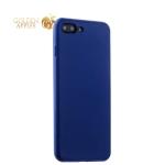 Силиконовый чехол-накладка для iPhone 7 Plus Deppa Gel Air Case (D-85272) Soft touch (0.7 мм), цвет синий