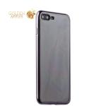 Силиконовый чехол-накладка для iPhone 7 Plus-Deppa Gel Plus Case (D-85258) (0.9 мм), цвет прозрачный (черный глянцевый борт)