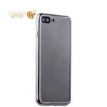 Силиконовый чехол-накладка для iPhone 7 Plus-Deppa Gel Plus Case (D-85255) (0.9 мм), цвет прозрачный (графитовый глянцевый борт)