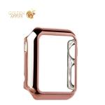 Пластиковый чехол для Apple Watch Series 1 (38 mm) COTEetCI Soft case (CS7015-MRG), цвет розовое золото