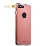 Алюминиевая накладка для iPhone 8 Plus iBacks Premium Aluminium case Essence Rose Gold, цвет розовое золото