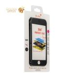 Противоударный чехол для iPhone 7 - 360 Protect Case & 9H Tempered Glass, цвет черный