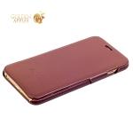 Кожаный чехол-книжка для iPhone 6S Plus / 6 Plus Fashion Case, цвет коричневый