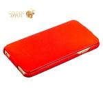 Кожаный чехол-книжка для iPhone 6S Plus / 6 Plus Fashion Case, цвет красный