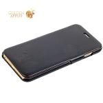 Кожаный чехол-книжка для iPhone 6S Plus / 6 Plus Fashion Case, цвет черный