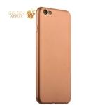 Силиконовый чехол-накладка для iPhone 6S Plus / 6 Plus J-Case Delicate Series Matt (0.5 мм), цвет розовое золото