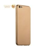 Силиконовый чехол-накладка для iPhone 6S Plus / 6 Plus J-Case Delicate Series Matt (0.5 мм), цвет золотистый