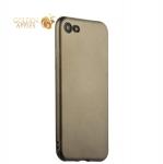 Силиконовый чехол-накладка для iPhone 7 J-Case Delicate Series Matt (0.5 мм), цвет графитовый