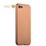 Силиконовый чехол-накладка для iPhone 7 J-Case Delicate Series Matt (0.5 мм), цвет розовое золото