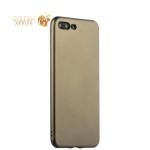 Силиконовый чехол-накладка для iPhone 7 Plus J-Case Delicate Series Matt (0.5 мм), цвет графитовый