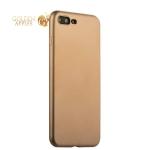 Силиконовый чехол-накладка для iPhone 7 Plus J-Case Delicate Series Matt (0.5 мм), цвет золотистый