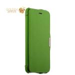 Кожаный чехол-книжка для iPhone 6S Plus / 6 Plus iCarer vintage series side-open, цвет зеленый