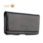 Кожаный чехол-кобура на ремень Valenta Arezzo (C-918 4XL) для смартфонов 4.7-5.0, цвет черный