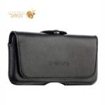 Кожаный чехол-кобура с двойным креплением на ремень Valenta Durban (С-918 2XL) для iPhone SE / 5S / 5, цвет черный